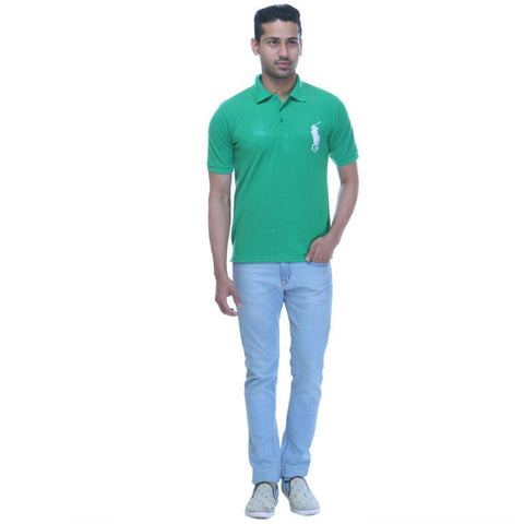 Green Polo T shirt - Full Front View