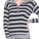 Full Sleeves Striped Black Top-4