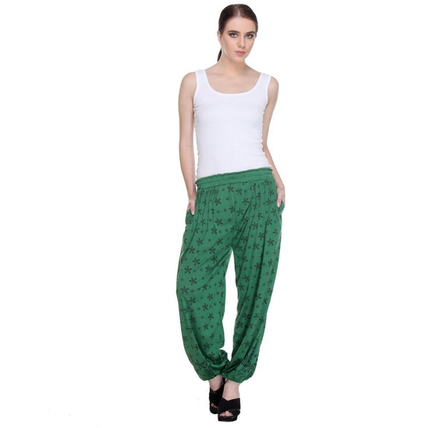 TeeMoods Nightwear Loungewear Green Pyjama Bottom