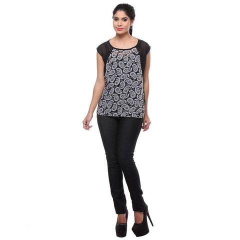 Print Georgette Women's Top-Full Front View