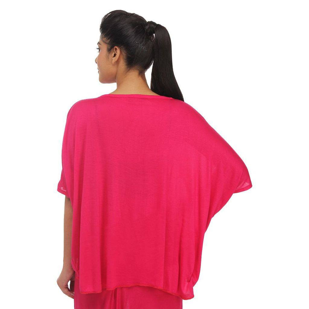 9cb9cfe552f7c6 Buy Lates Womens Dark Pink Cropped Top Online at TeeMoods