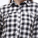 TeeMoods Crepe Check Shirt-Checks