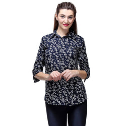 TeeMoods Crepe Floral Print Shirt-1