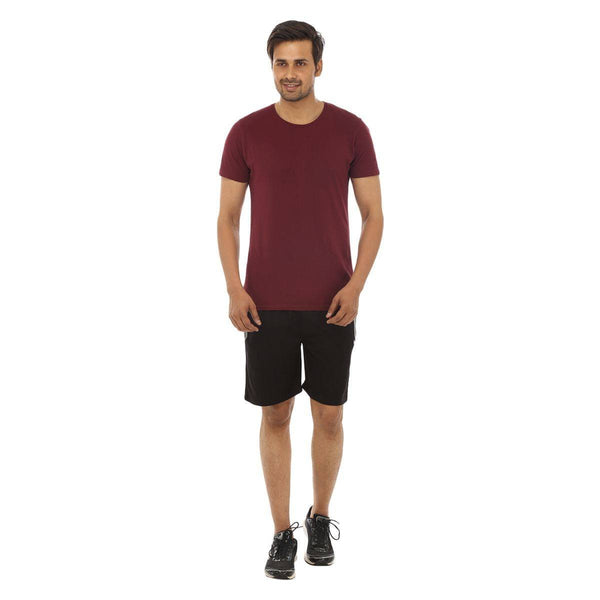 TeeMoods Black Mens Shorts