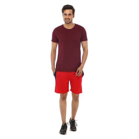 TeeMoods Red Mens Shorts