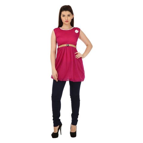 TeeMoods Sleeveless Womens Violet Tunic Top