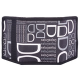 TeeMoods Unisex Black and White Printed Trifold Wallet-back side