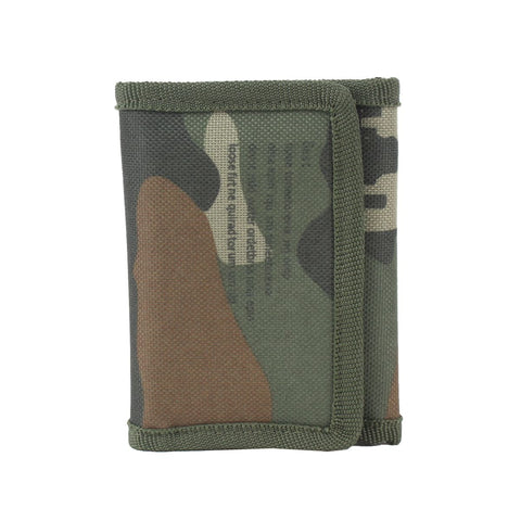 TeeMoods Unisex Camouflage Printed Green Trifold Wallet-front view