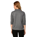 Teemoods Womens Cotton 3/4th Sleeves Grey Shrug, Summer Shrug for Ladies, back