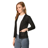Teemoods women's cotton full sleeves shrug with pocket-side image. Made in cotton slub.
