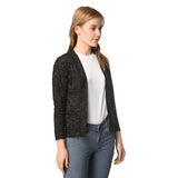 Teemoods women's cotton full sleeves shrug with pocket, Side pose2. Made in cotton slub.