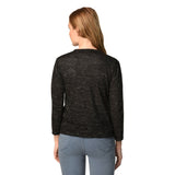 Teemoods women's cotton full sleeves shrug with pocket-Back. Made in cotton slub.