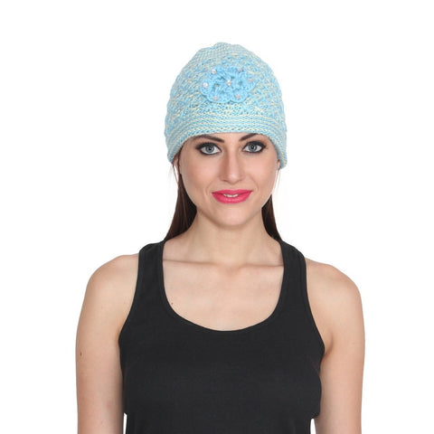 Women's Woolen Blue Cap