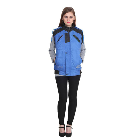 Buy Teemoods Sleeveless Blue Winter Jacket For Women Online