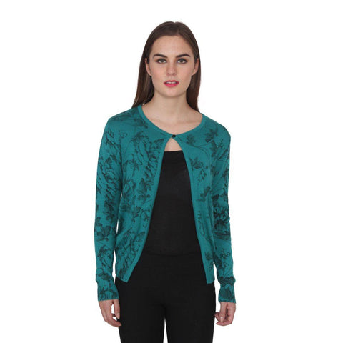 TeeMoods Women's Blue Woollen Shrug-1