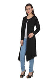 TeeMoods Long Black Shrug for Women-2