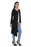 TeeMoods Long Black Shrug for Women-3