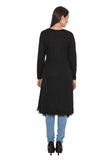 TeeMoods Long Black Shrug for Women-4