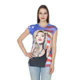 Womens Casual Digital Print  T Shirt (Pack of Two) in Assorted Prints and Colors