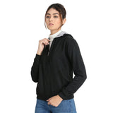 Full Zip Black Hooded Sweatshirt