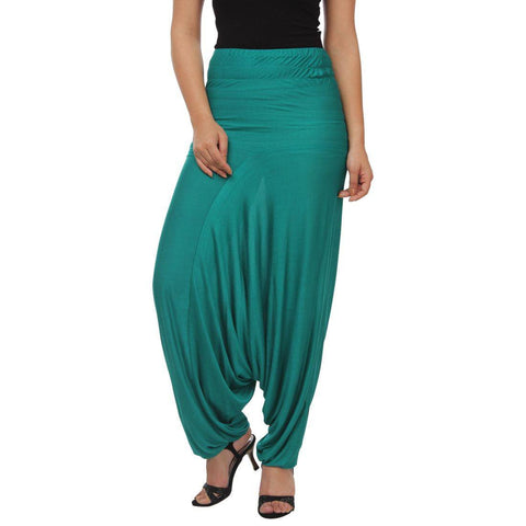 Womens Sea Green Afgani Harem Pant