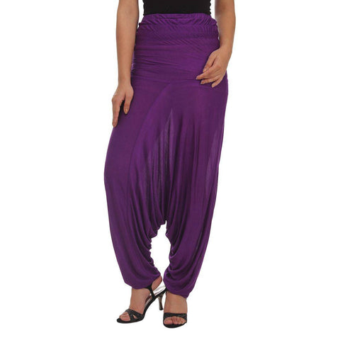 Womens Purple Afgani Harem Pant