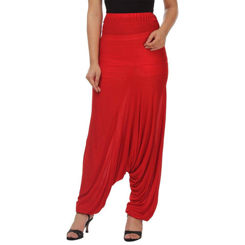 Womens Red Afgani Harem Pant