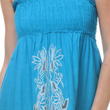 Womens Turquoise Tube Dress