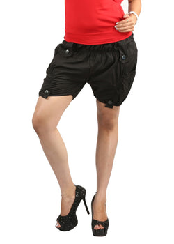 TeeMoods amazing designer cotton black shorts, ladies shorts