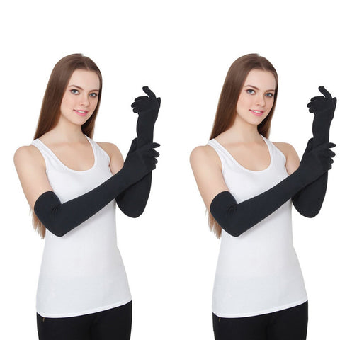 TeeMoods Pack of Two Sun Protection Full Hand Gloves for Women