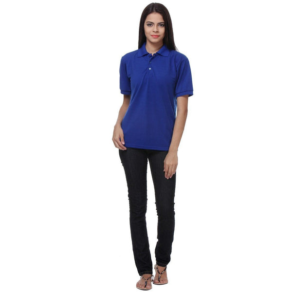 TeeMoods Royal Blue Womens Polo Shirt Full View