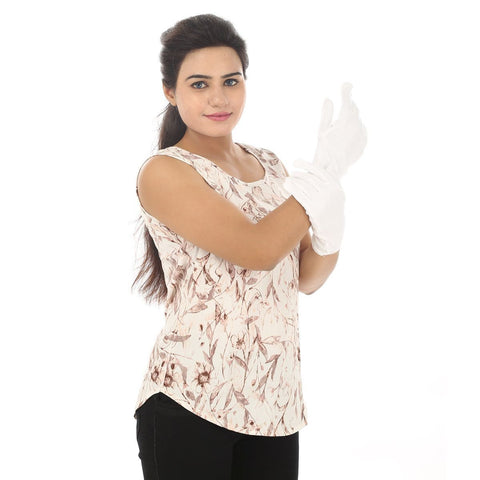 TeeMoods Protective Solid White Women's Gloves