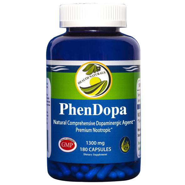 PhenDopa Nootropic l 1300mg l 180 Count