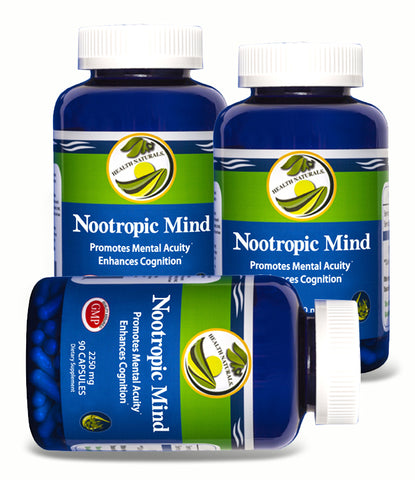 Nootropic Mind (270 Capsules) Natural Mental Acuity