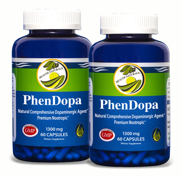 PhenDopa Nootropic l 1300mg l 120 Count - Health Naturals