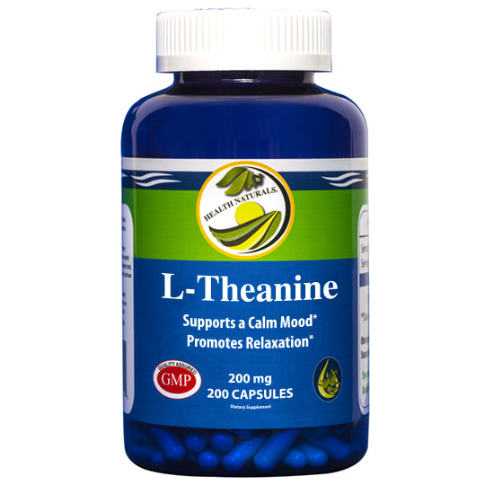 L-Theanine 200 ct. 200 mg Capsules - Health Naturals