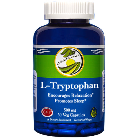 L-Tryptophan Capsules l 500mg Capsules l 60 Count