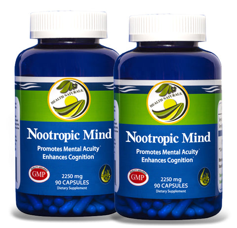 Nootropic Mind (180 Capsules) Natural Mental Acuity