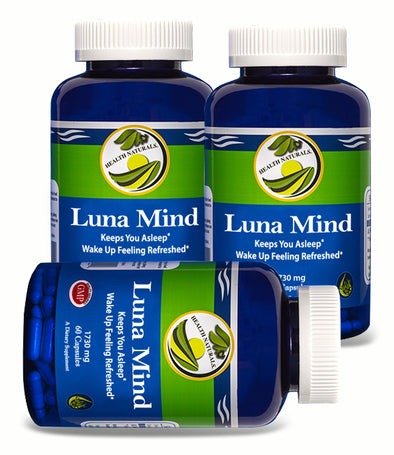 Luna Mind l Nootropic Sleep Supplement (180 Capsules)