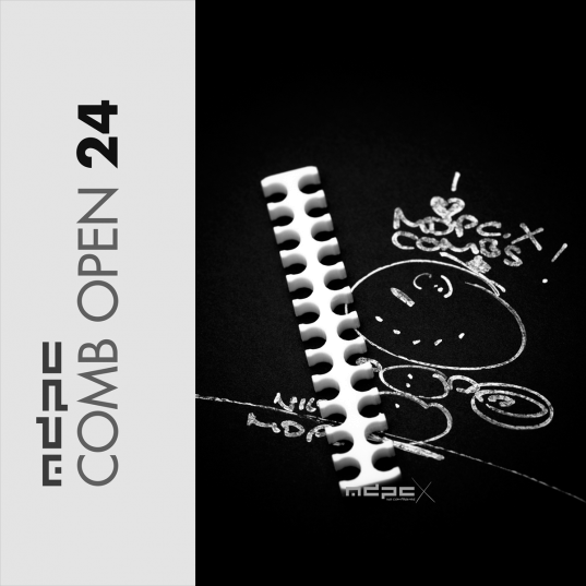 Cable Comb White Open - 24 Pin