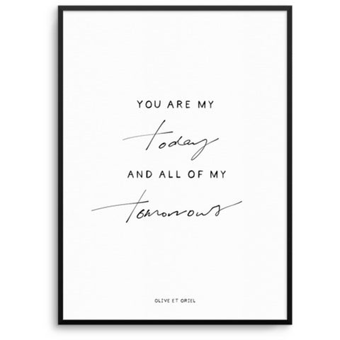 ALL OF MY TOMORROWS | HAND SCRIPTED - A5 PRINT