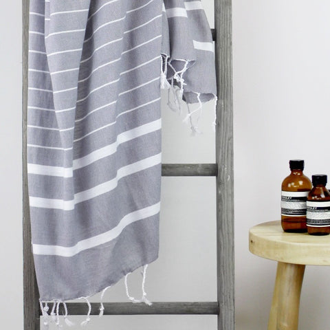 TURKISH TOWEL - BONDI Smoky Grey by Collective Sol