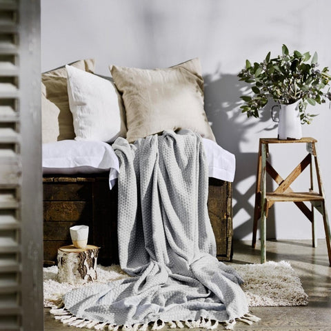 FLORENCE THROW Soft Grey by Collective Sol