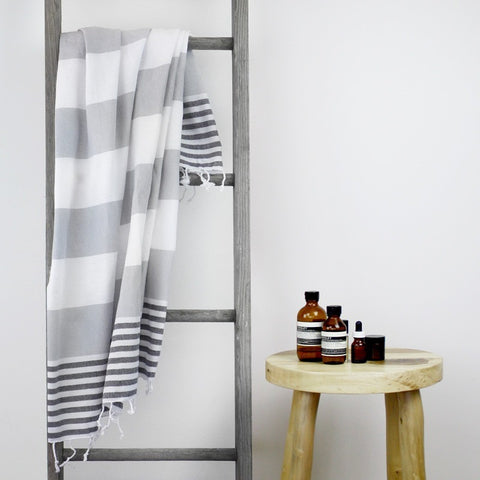 TURKISH TOWEL - HAMPTONS Classic Grey by Collective Sol