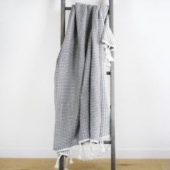 MASON WAFFLE KNIT THROW Grey