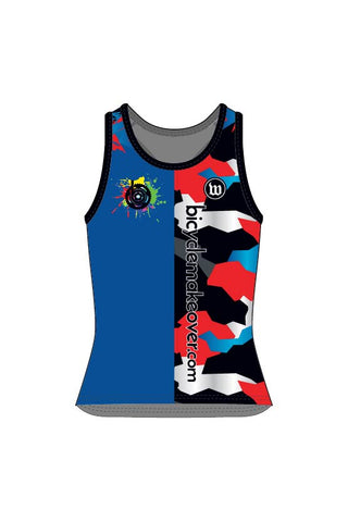 Bicycle Makeover - Women's Running Singlet - #WBI1018-1