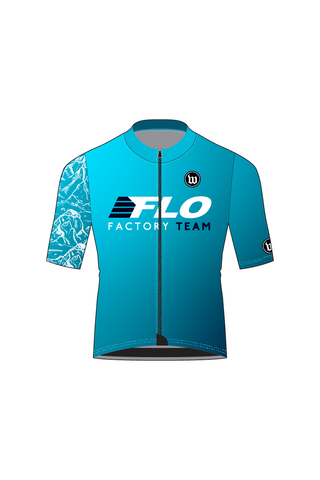 Men's Contender Short Sleeve Cycling Jersey - FLO FACTORY TEAM #WFL1019-1
