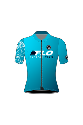 Women's Contender Short Sleeve Cycling Jersey - FLO FACTORY TEAM #WFL1019-1