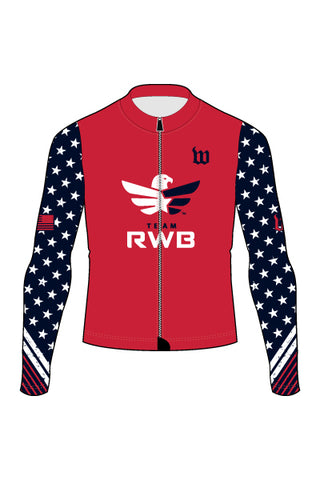 Men's Team RWB Long Sleeve Cycling Jersey - #1360