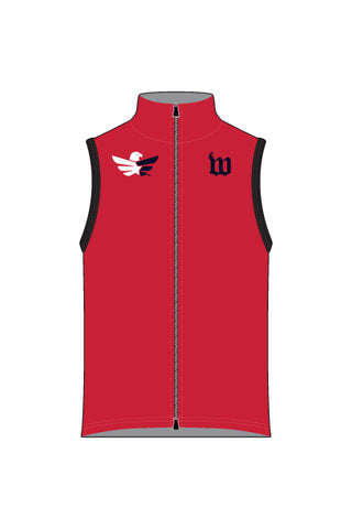 Men's Team RWB Wind Vest with Reflective Rear Pockets - #1360